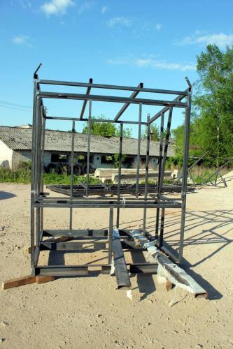 Metalo konstukcija ruošiama apdirbimui